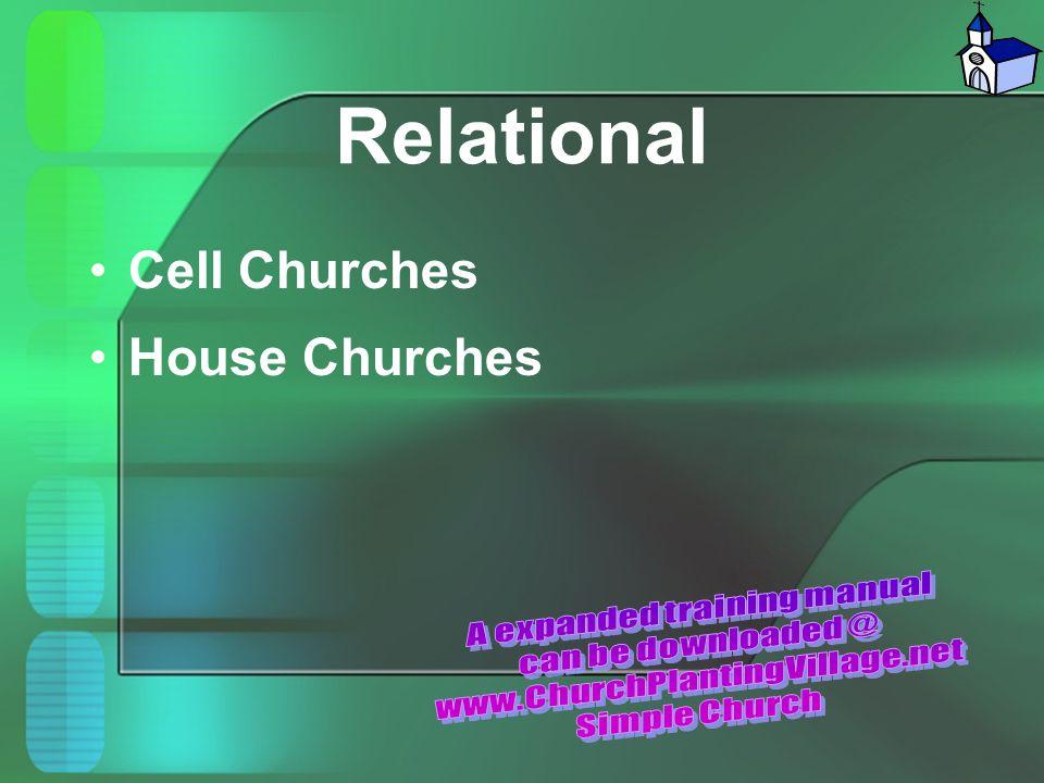 Relational Cell Churches House Churches
