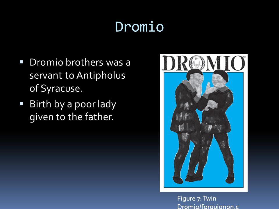 Dromio  Dromio brothers was a servant to Antipholus of Syracuse.