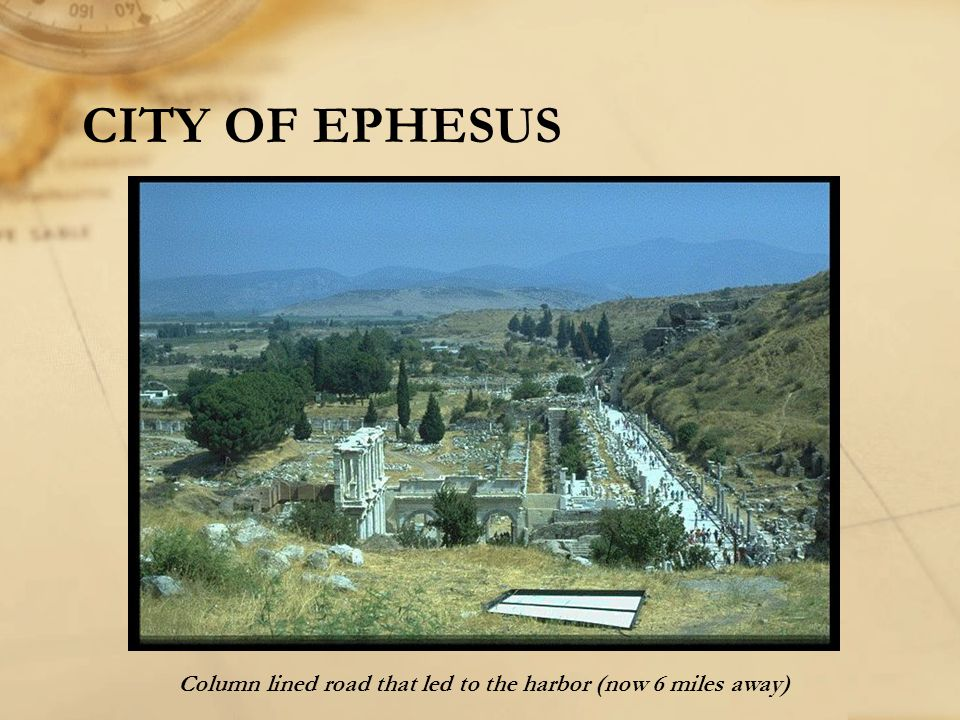 CITY OF EPHESUS Column lined road that led to the harbor (now 6 miles away)
