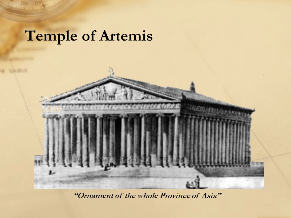 """Temple of Artemis """"Ornament of the whole Province of Asia"""""""