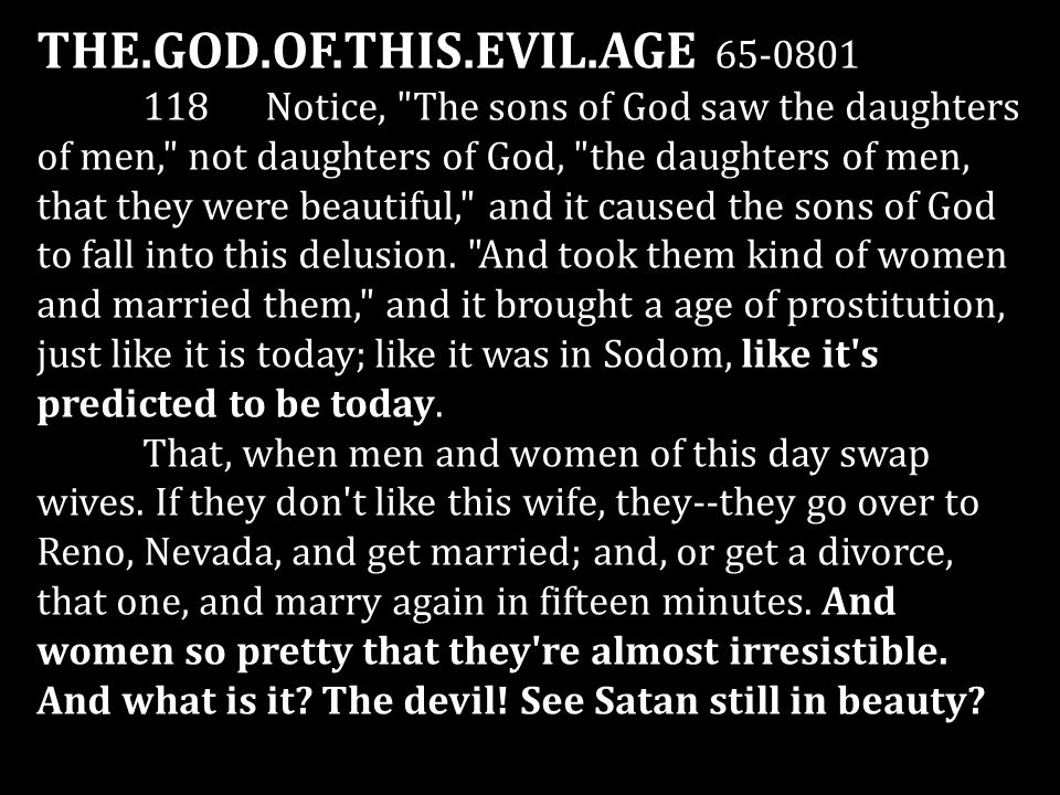 THE.GOD.OF.THIS.EVIL.AGE 65-0801 118 Notice,
