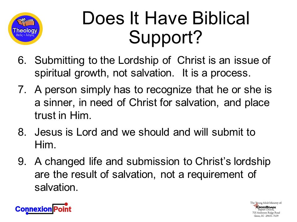 Theology Does It Have Biblical Support.