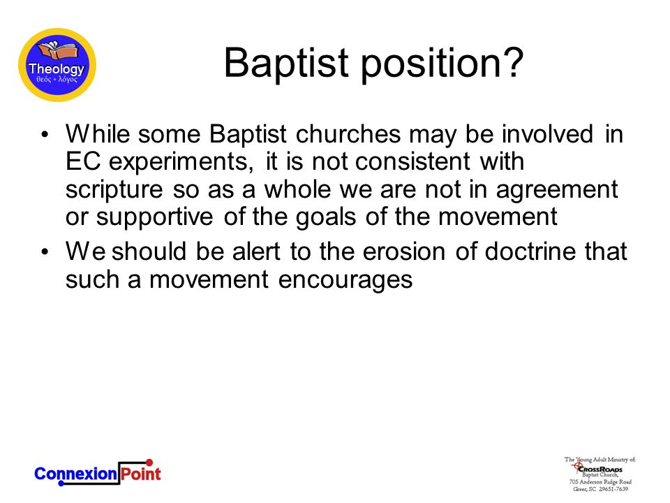 Theology Baptist position.