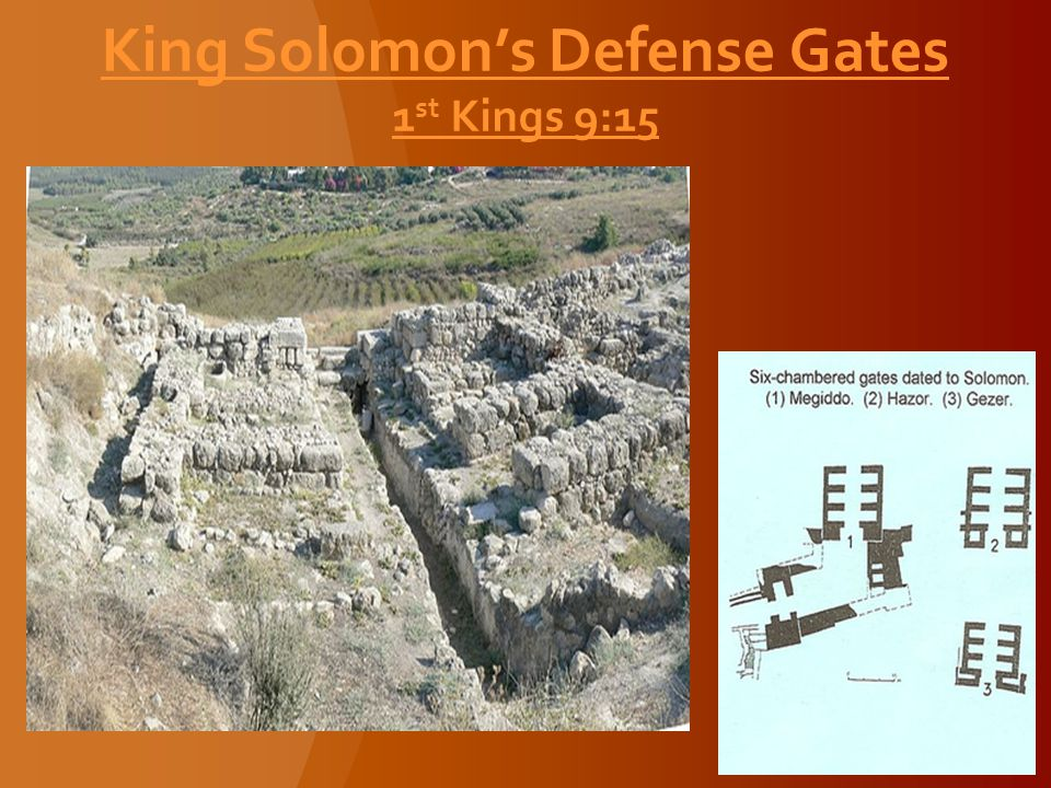 King Solomon's Defense Gates 1 st Kings 9:15