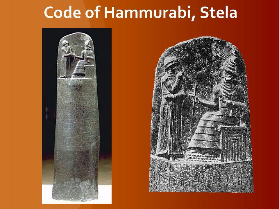 Code of Hammurabi, Stela