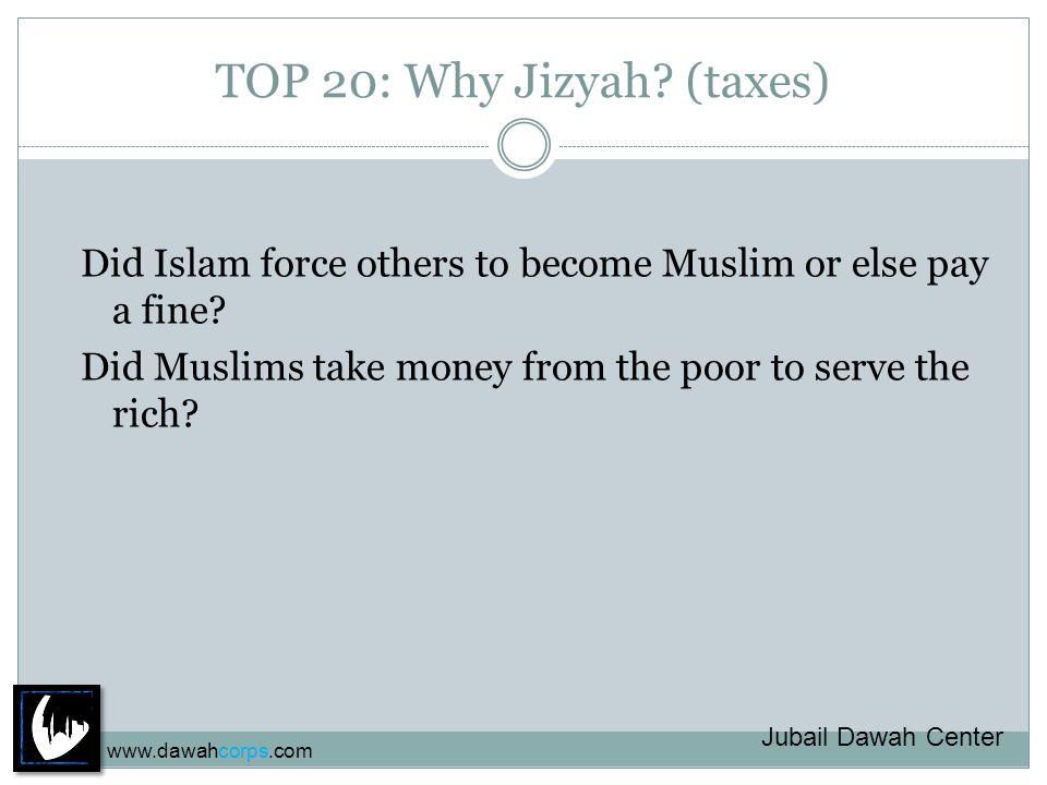 TOP 20: Why Jizyah.(taxes) Do you taxes. Is Jizyah a Tax.