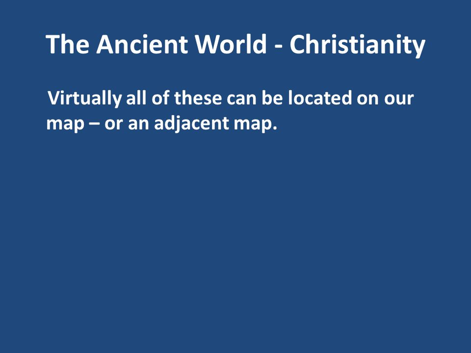 The Ancient World - Christianity be ruled by a 'philosopher king'.