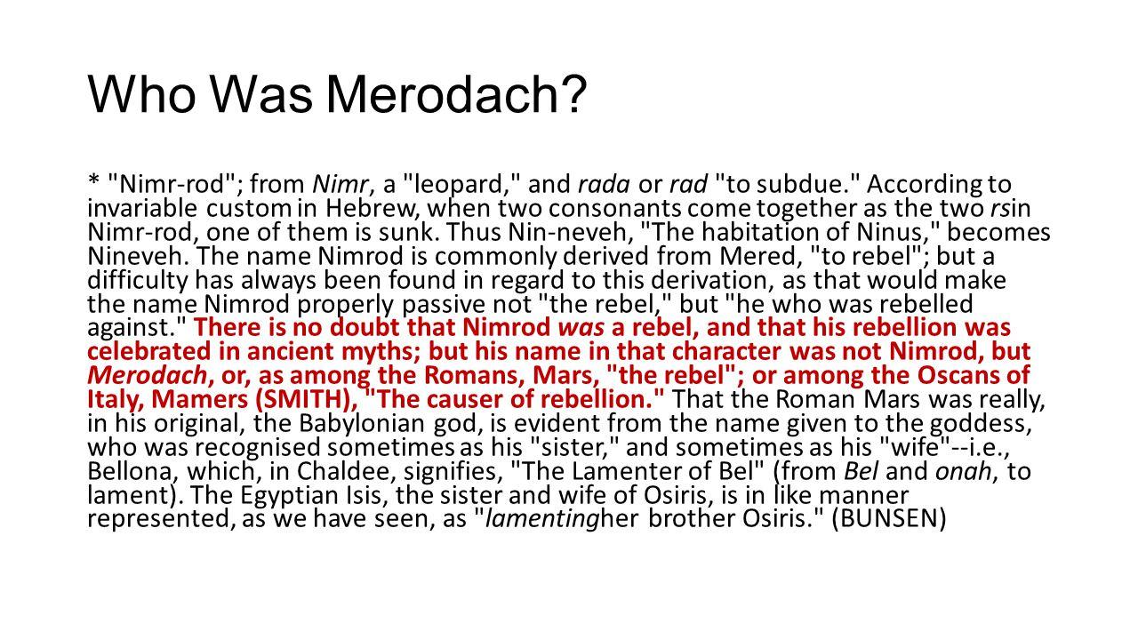 Who Was Merodach.
