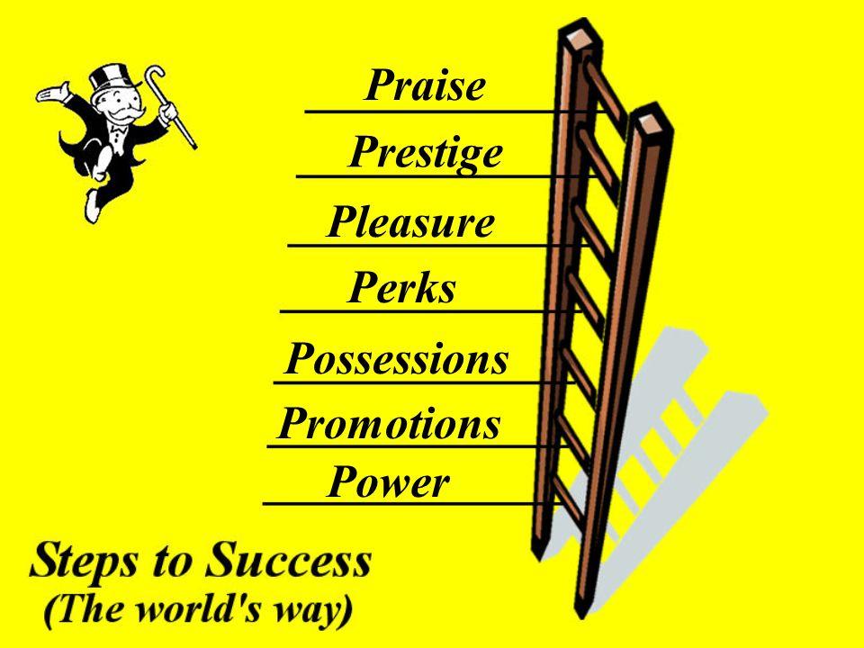 Power Promotions Possessions Perks Pleasure Prestige Praise