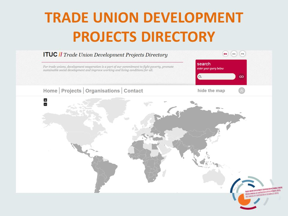 TRADE UNION DEVELOPMENT PROJECTS DIRECTORY