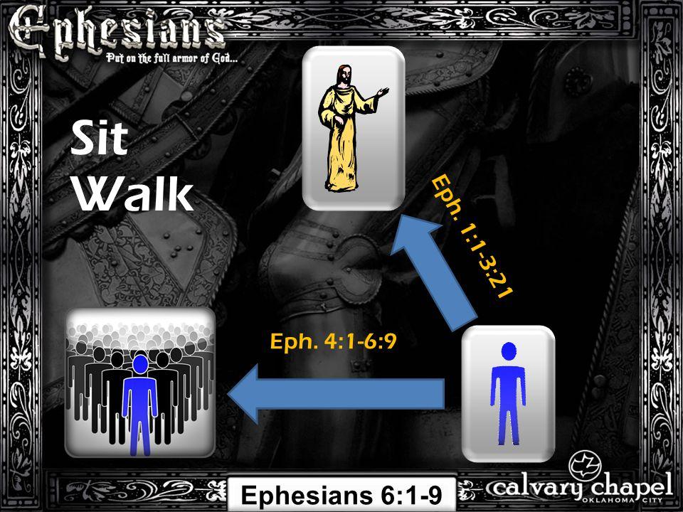 Eph. 1:1-3:21 Eph. 4:1-6:9 Sit Walk