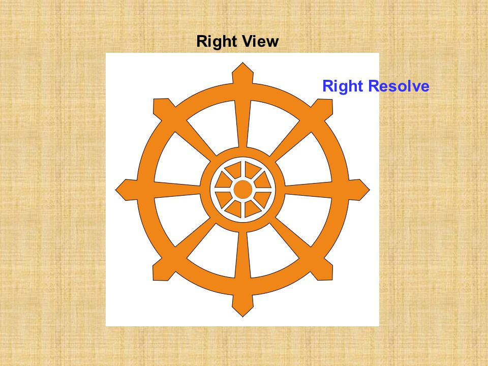 Right View Right Resolve Right Speech Right Conduct Right Livelihood Right Effort Right Mindfulness