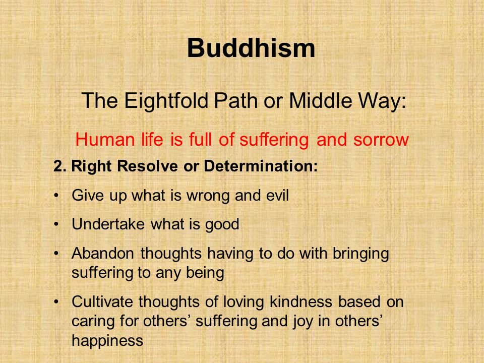 Buddhism The Eightfold Path or Middle Way: 7.