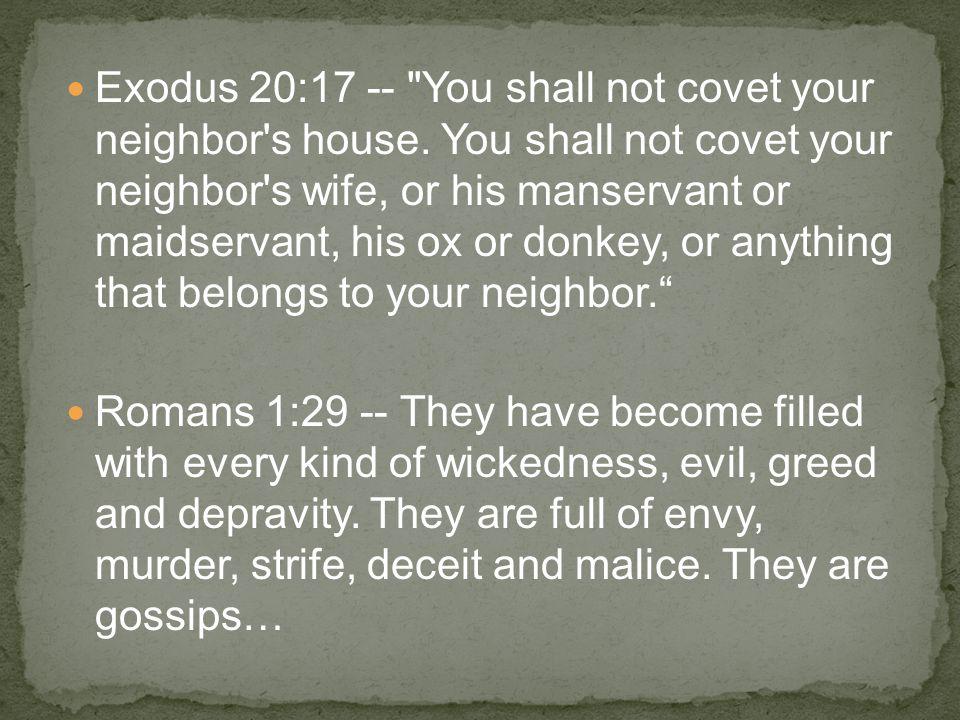 Exodus 20:17 --