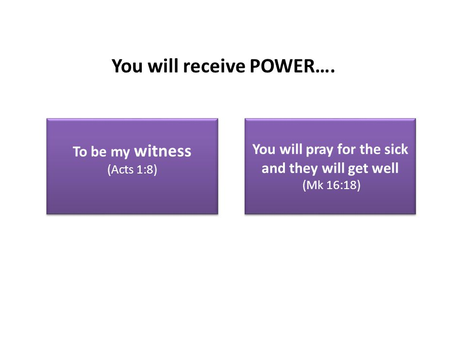 You will receive POWER….
