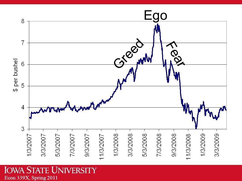 Econ 339X, Spring 2011 Greed Fear Ego