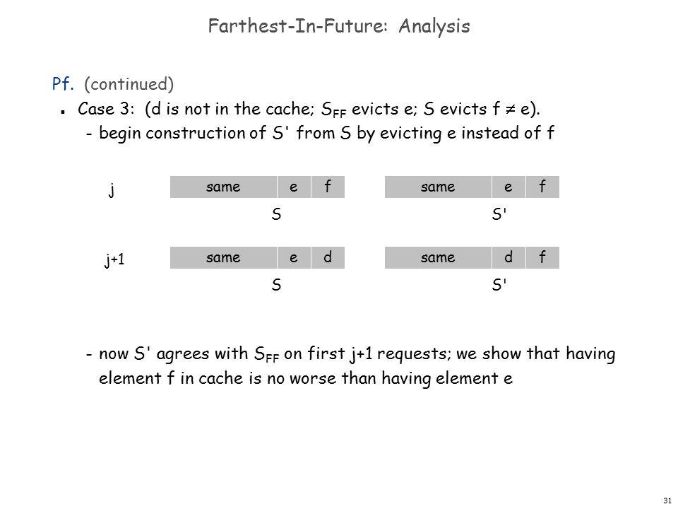 31 j Farthest-In-Future: Analysis Pf.