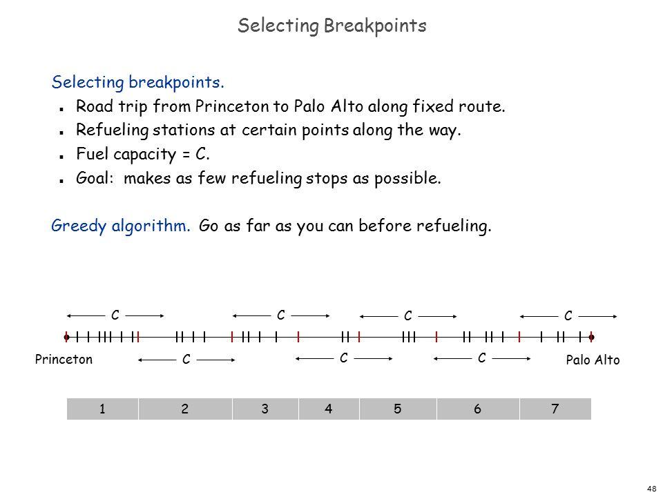 48 Selecting Breakpoints Selecting breakpoints.