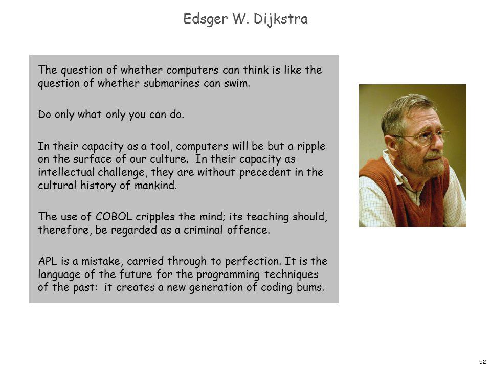52 Edsger W.