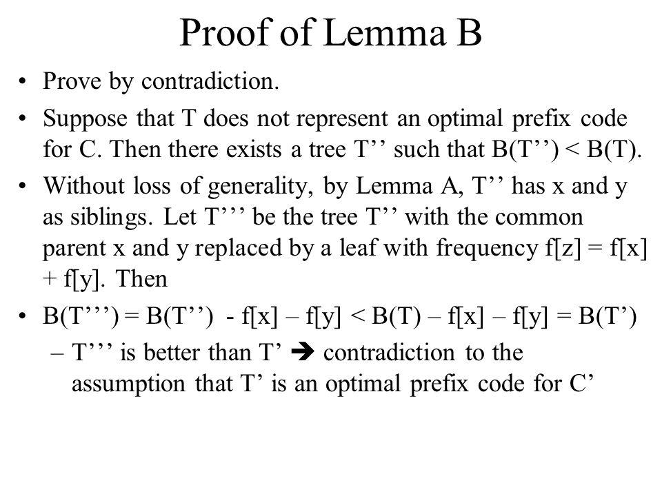 B(T') = B(T)-f[x]-f[y] B(T) = 45*1+12*3+13*3+5*4+9*4+16*3 z:14 B(T') = 45*1+12*3+13*3+(5+9)*3+16*3 = B(T) - 5 - 9