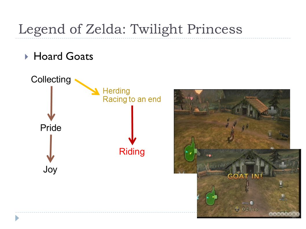 Legend of Zelda: Twilight Princess  Hoard Goats Pride Joy Collecting Herding Racing to an end Riding
