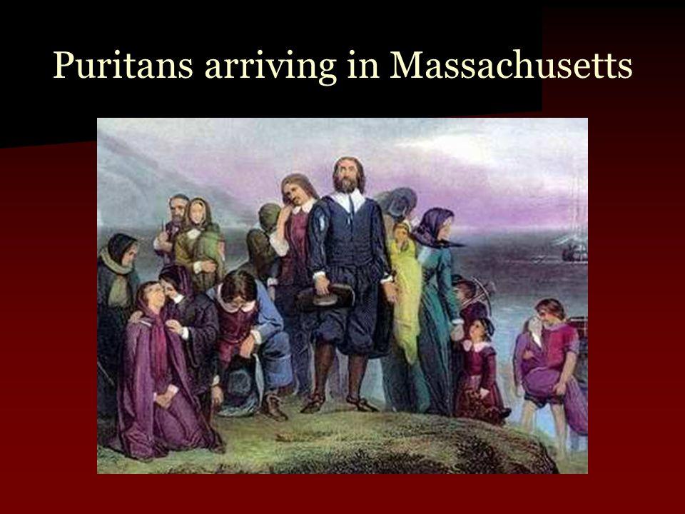 Puritans arriving in Massachusetts