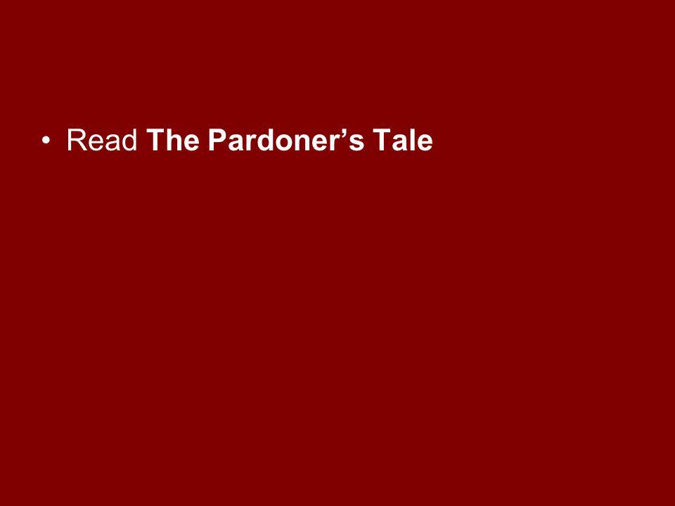 Read The Pardoner's Tale