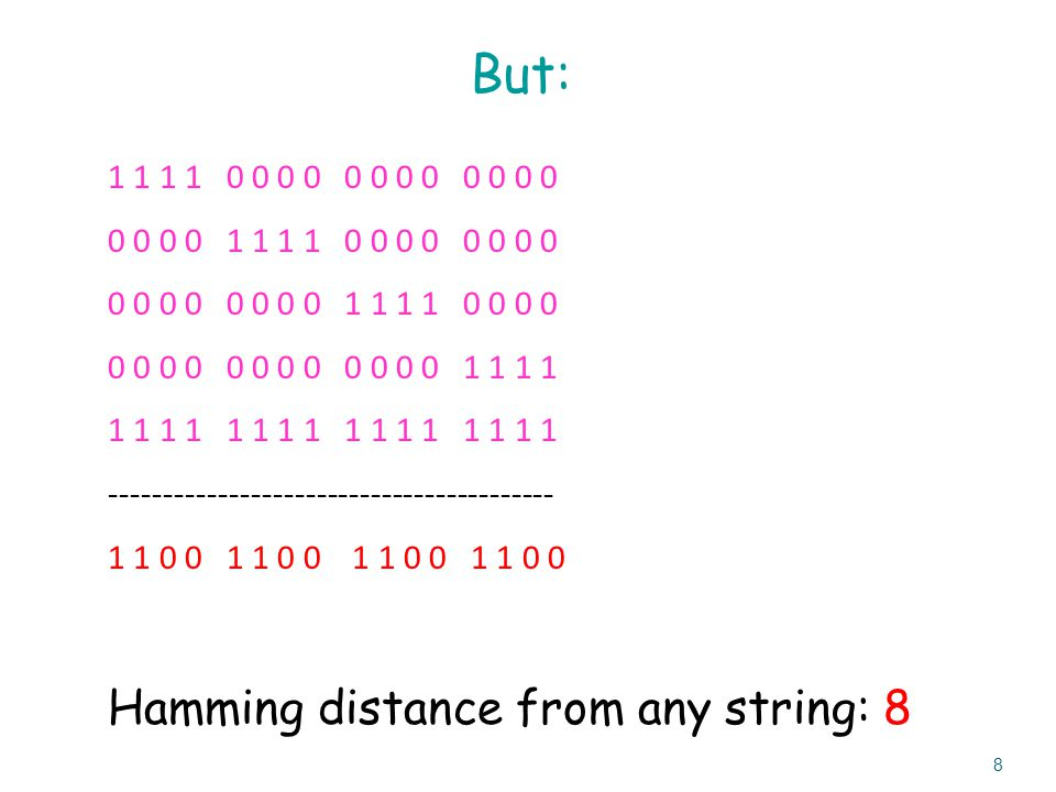 Example (that works) – Huffman code Computer Data Encoding: How do we represent data in binary.