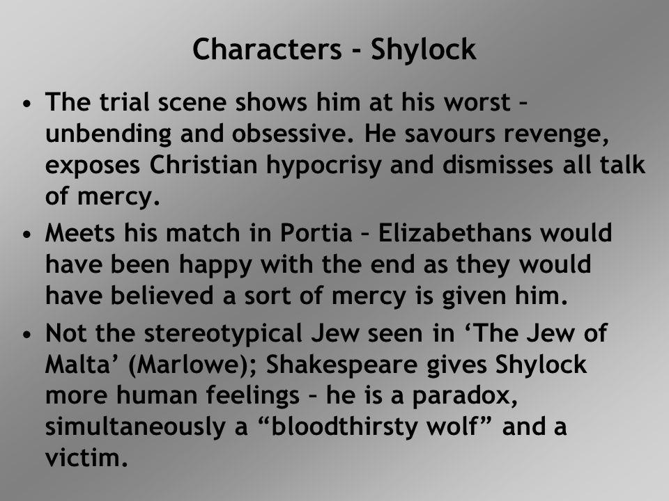 Characters Antonio Sad, unselfish and generous.