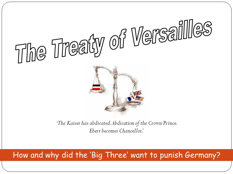 Quick Test 1.In which year was the Treaty of Versailles signed.