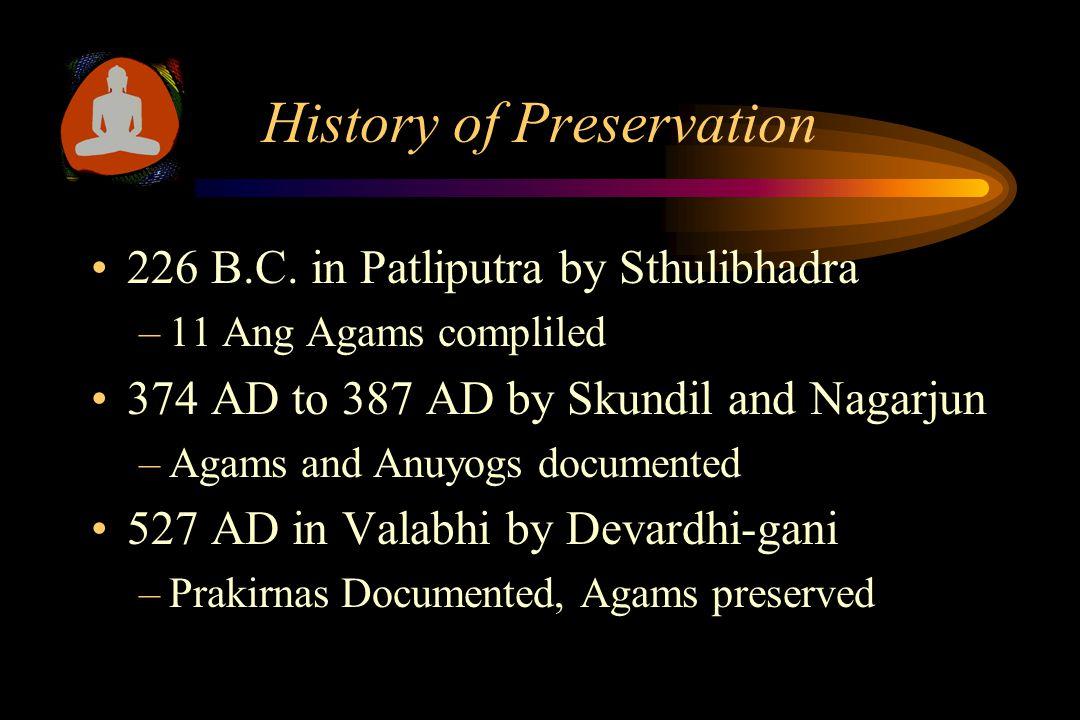 Jain Literature Ang-bahya Agams –Digamber - 14 Ang-bahya Agams –Shwtamber Murti-pujak - 34 Ang-bahya Agams Non Murti-pujak - 21 Ang-bahya Agams
