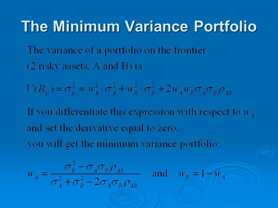 The Minimum Variance Portfolio