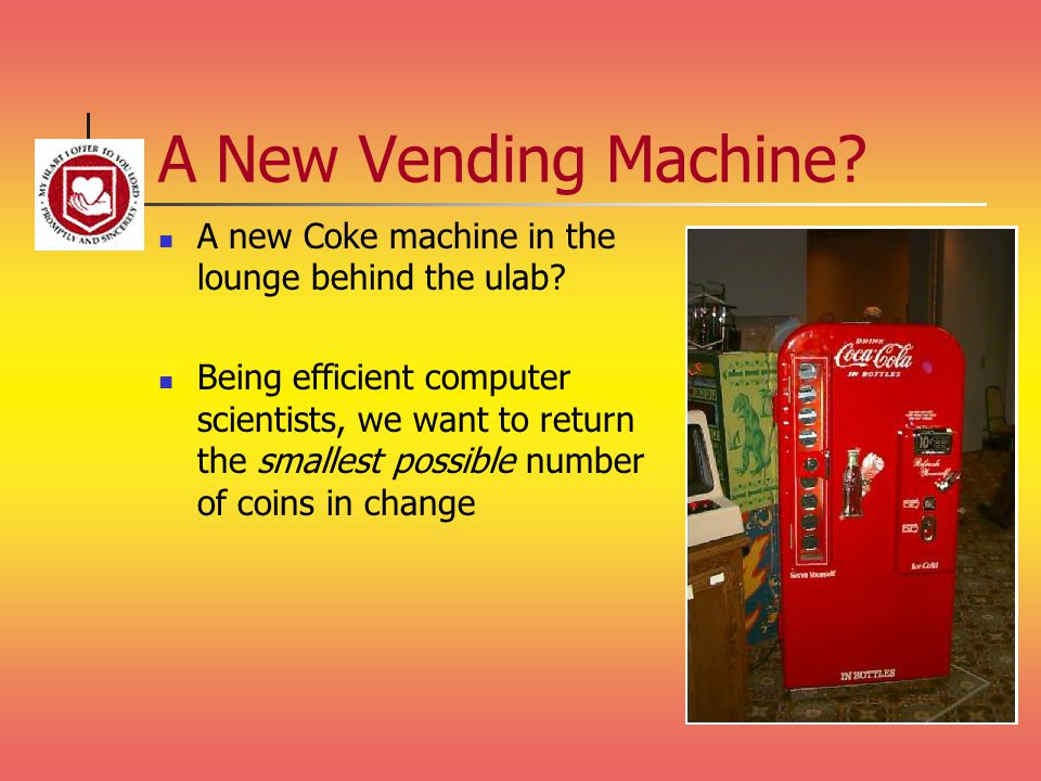 A New Vending Machine. A new Coke machine in the lounge behind the ulab.