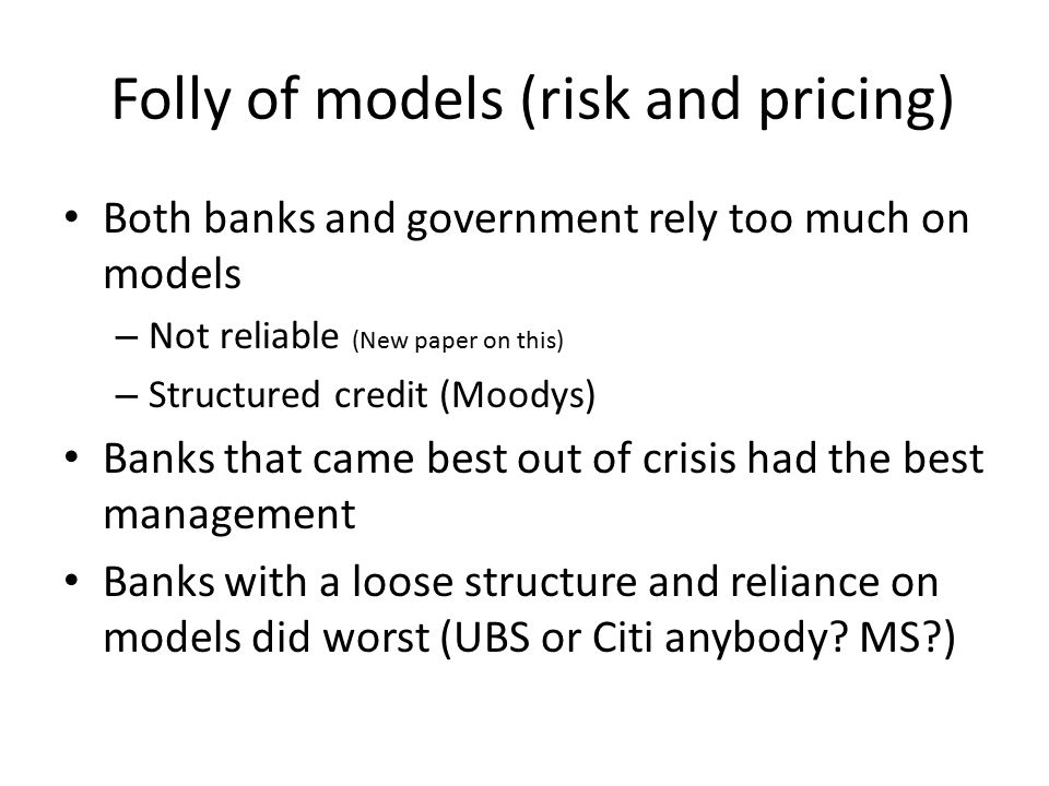 In Sum… Be realistic Change monetary policy Incorporate financial sector and rest of private economy in decision making Reform Central Bank Allow exchange rates to find equilibrium