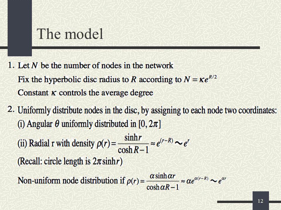 12 The model