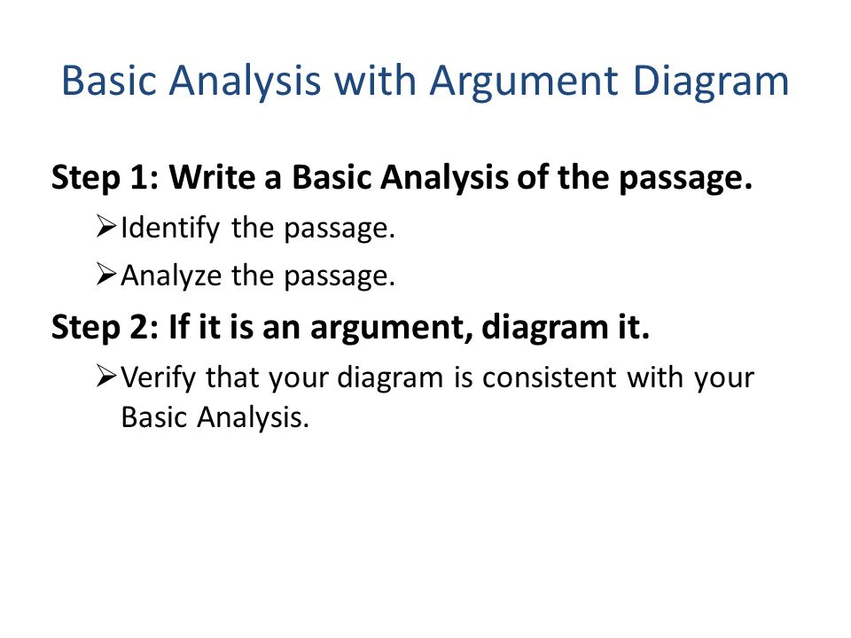 Basic Analysis with Argument Diagram Step 1: Write a Basic Analysis of the passage.