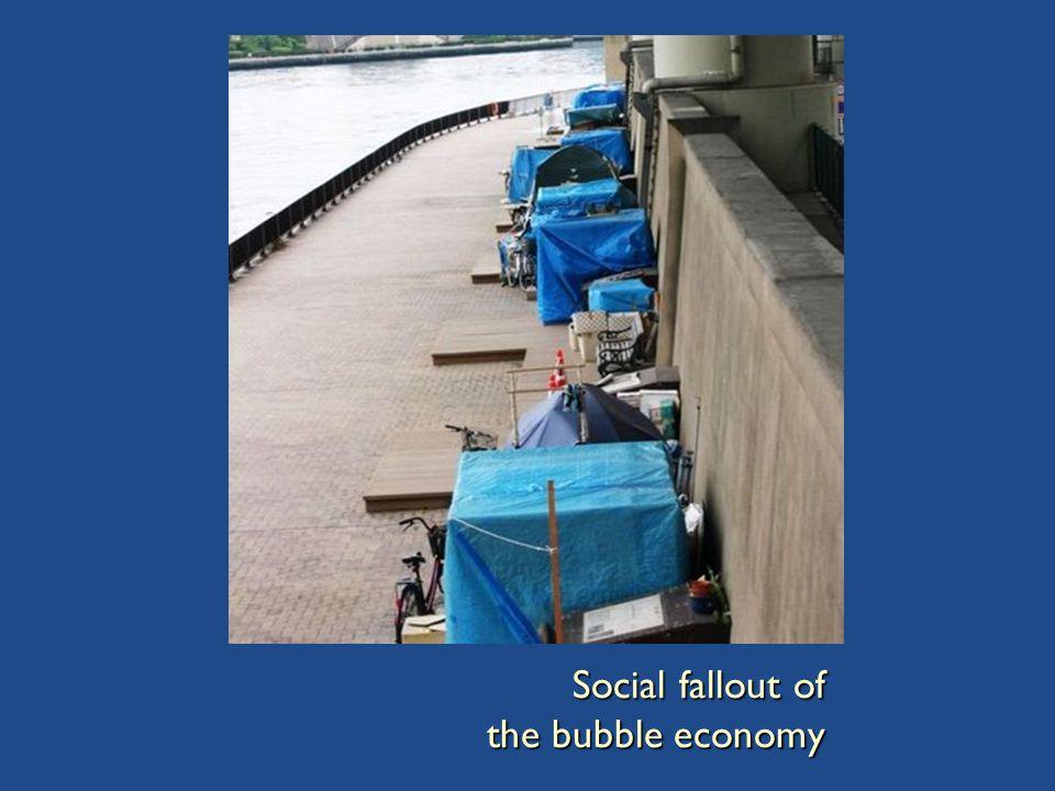 Social fallout of the bubble economy