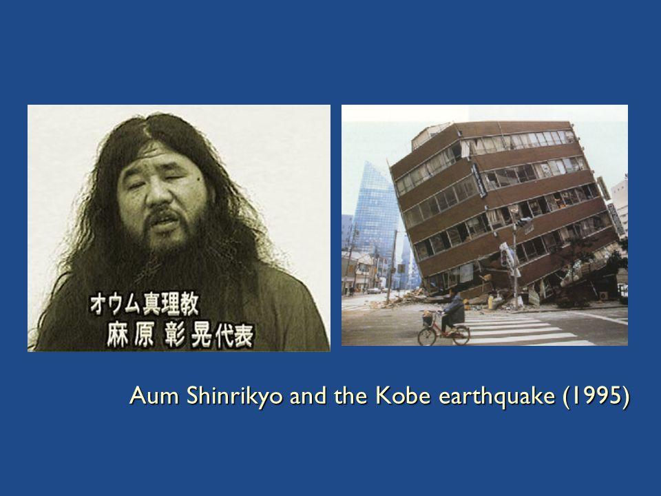 Aum Shinrikyo and the Kobe earthquake (1995)