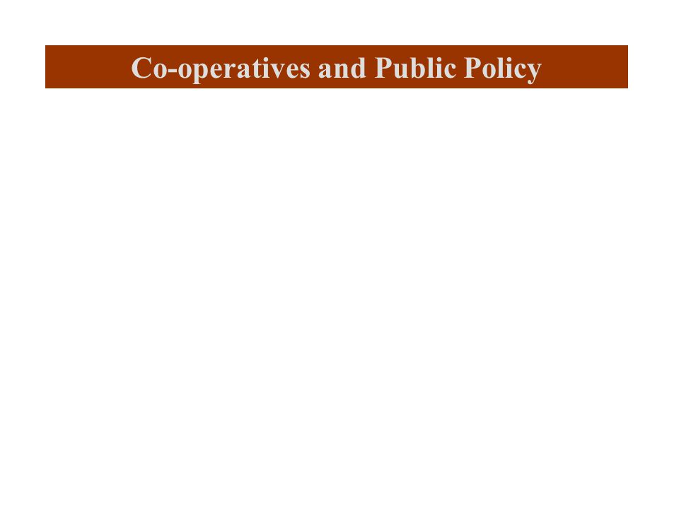 Co-operatives and Public Policy