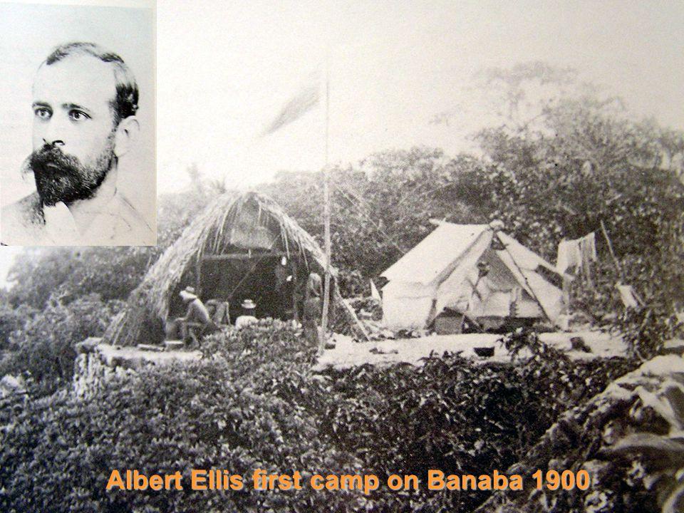 Albert Ellis first camp on Banaba 1900