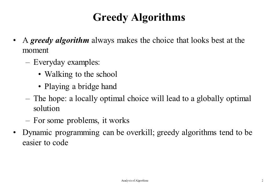 0-1 Knapsack Problem Analysis of Algorithms23