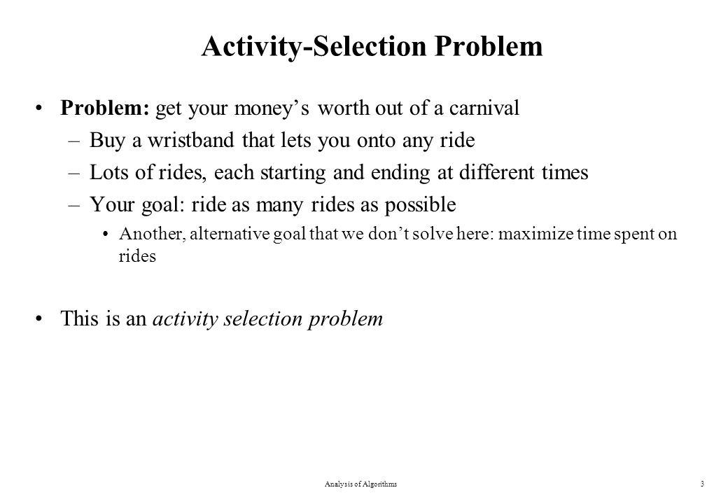 0-1 Knapsack Problem Analysis of Algorithms24