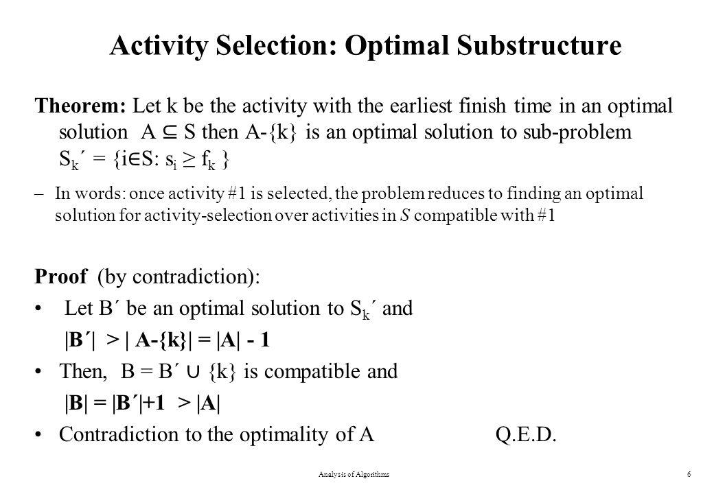 0-1 Knapsack Problem Analysis of Algorithms27