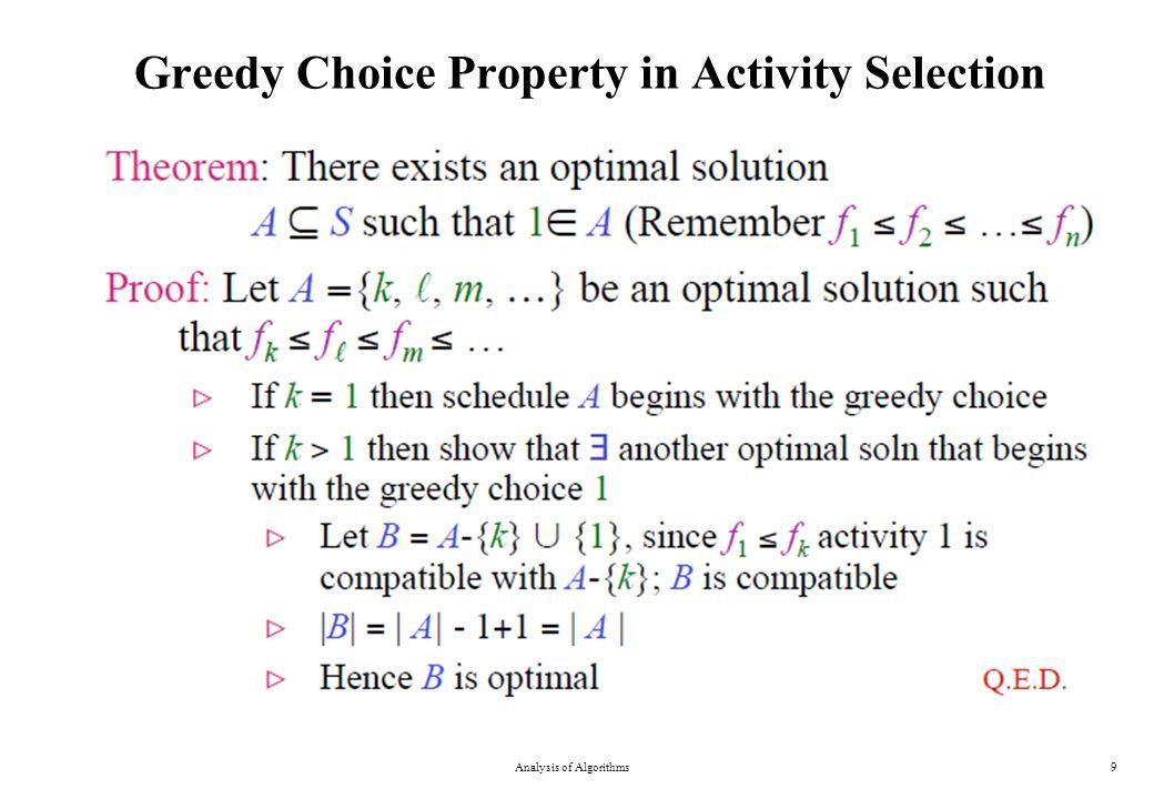 DP Solution to 0-1 Knapsack Problem Analysis of Algorithms30