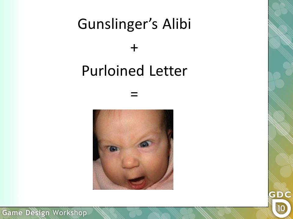 Gunslinger's Alibi + Purloined Letter =