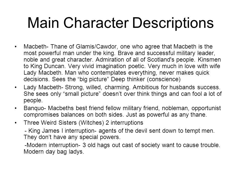 Cont.Macduff- Thane of Fife.