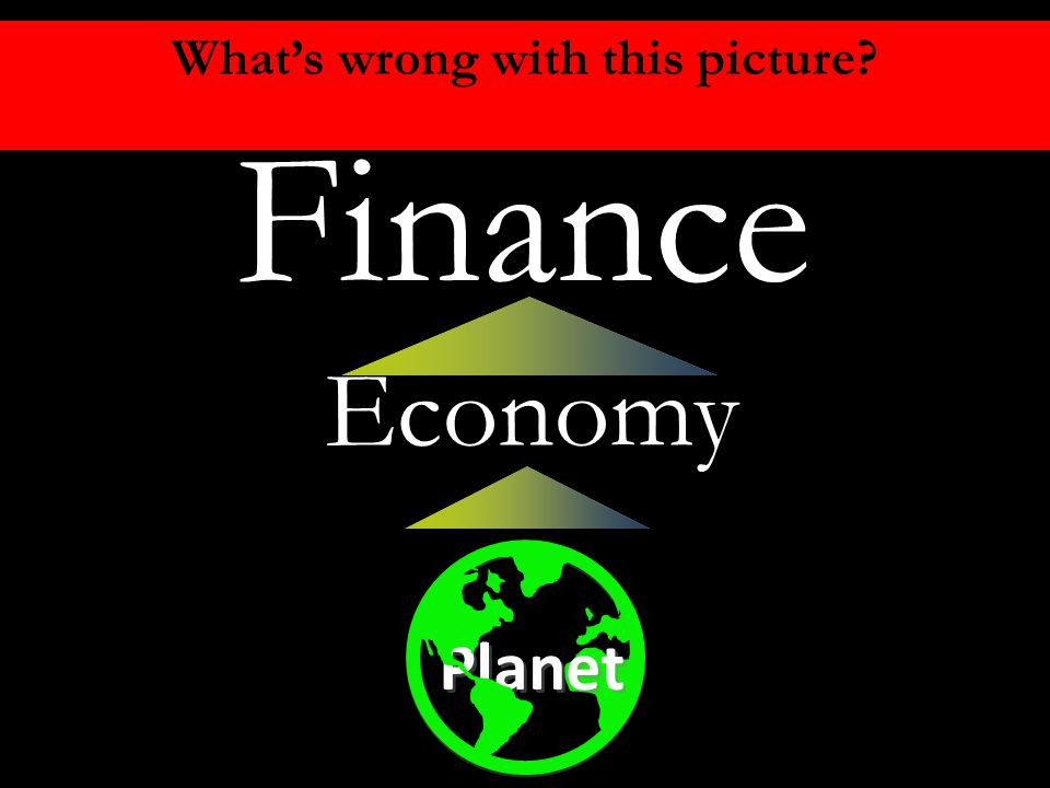 Economic Efficiency Economy Finance Planet What's wrong with this picture