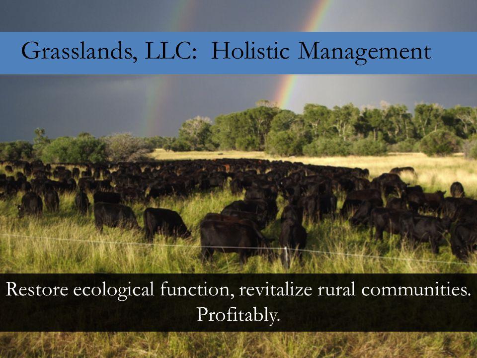 Grasslands, LLC: Holistic Management Restore ecological function, revitalize rural communities.