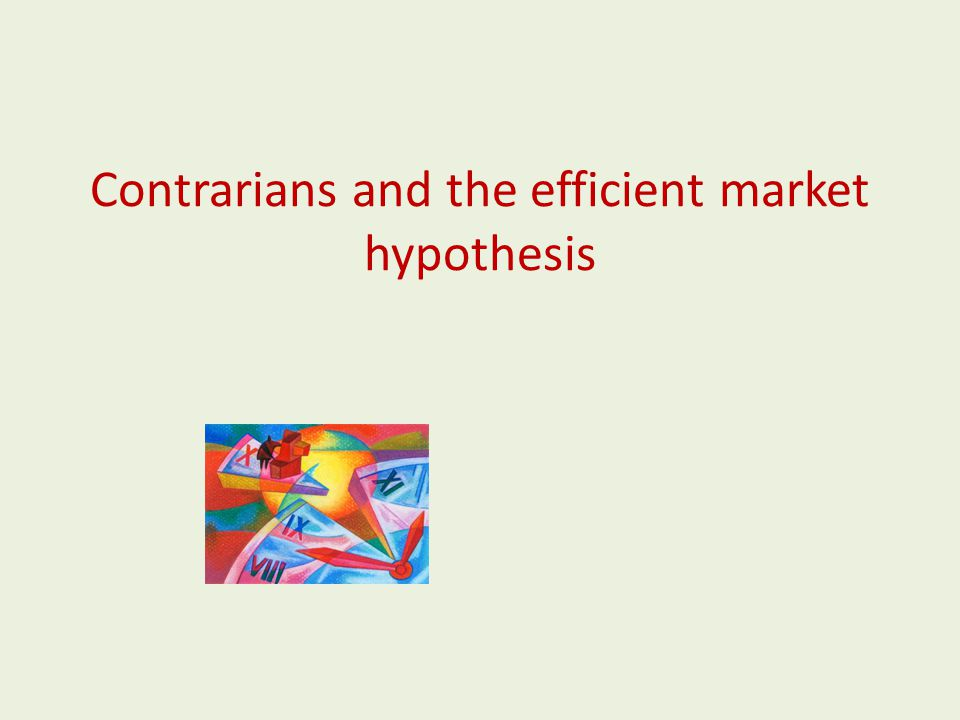 Contrarians and the efficient market hypothesis