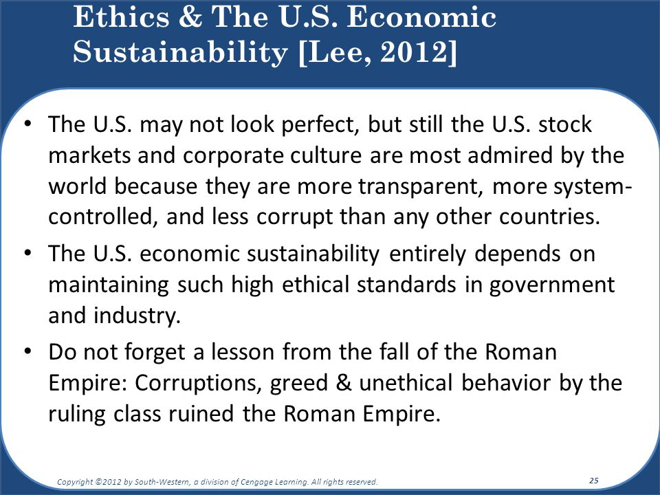 The U.S. may not look perfect, but still the U.S. stock markets and corporate culture are most admired by the world because they are more transparent,